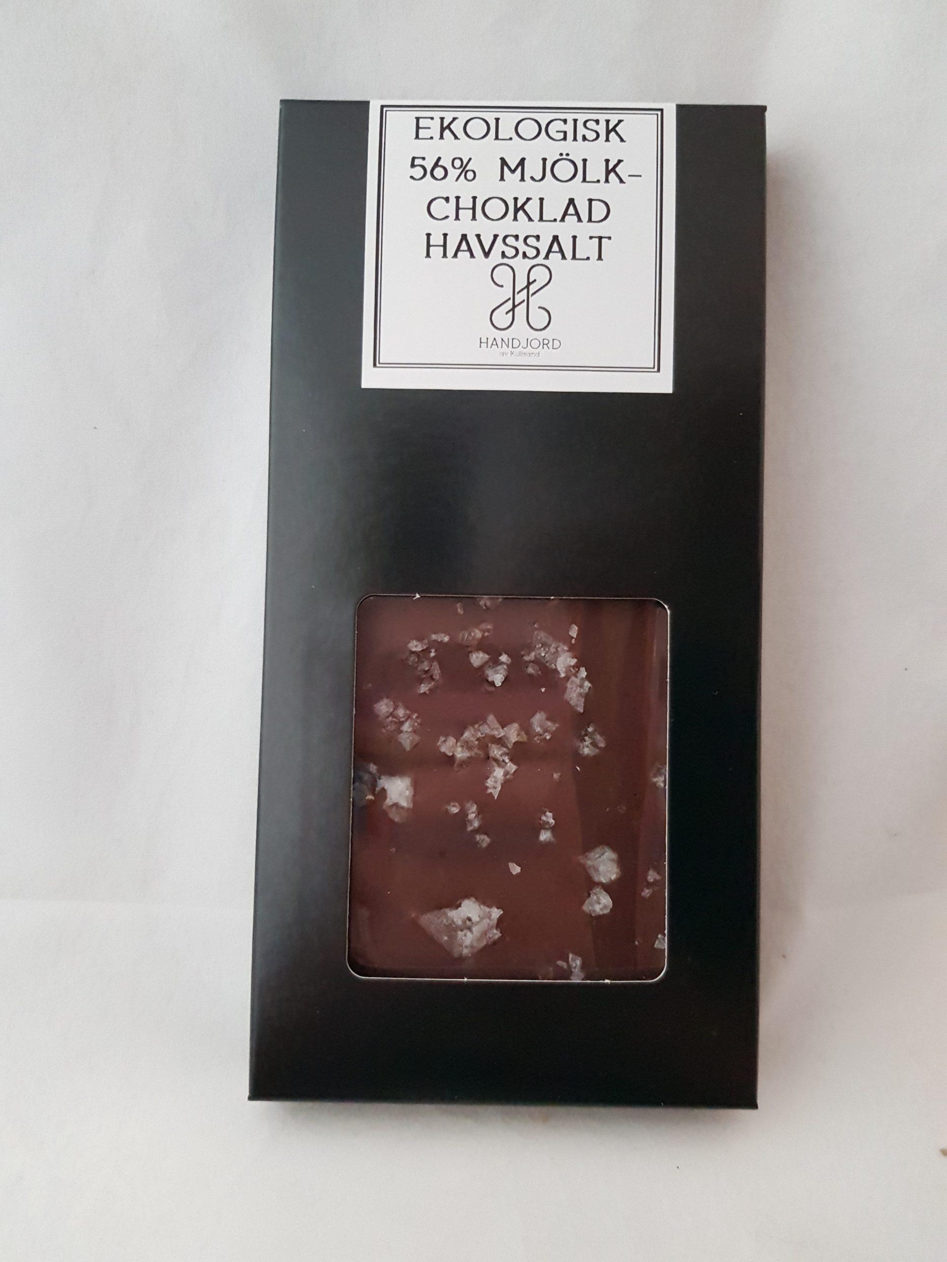 Ekologisk Mörk Mjölkchokladkaka med Havssalt 56%