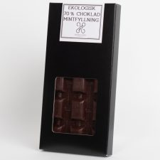 Ekologisk 70% chokladkaka med mintfyllning